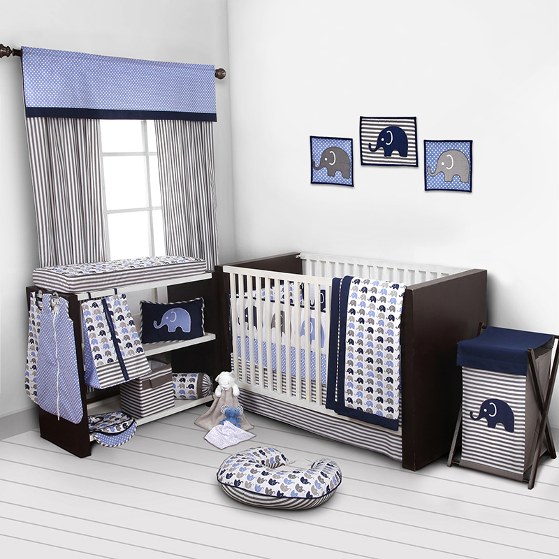 Elephants 10 Piece Crib Bedding Set