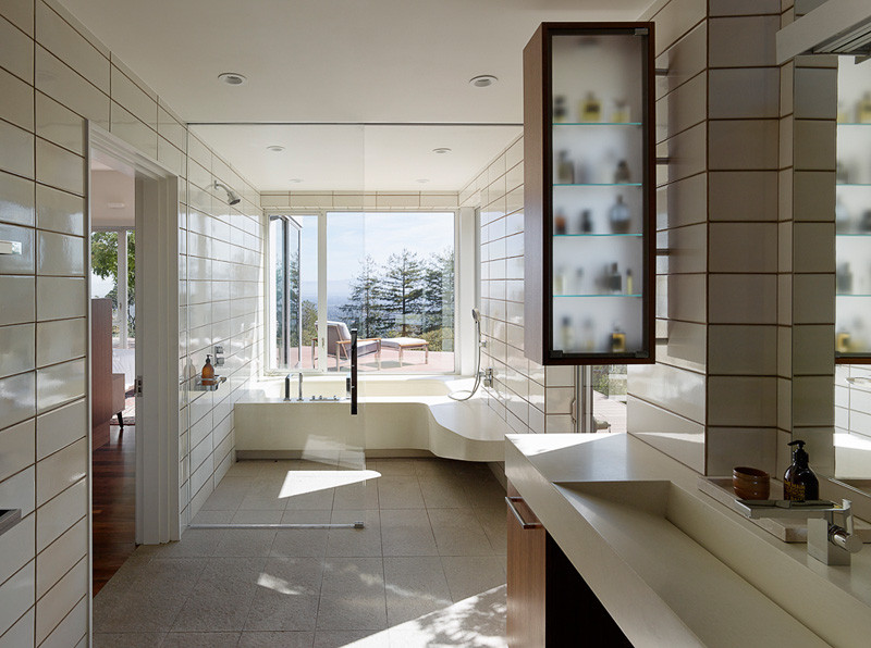 Shou Sugi Ban Siding bath