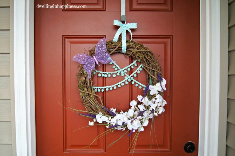 Quick DIY Spring Wreath