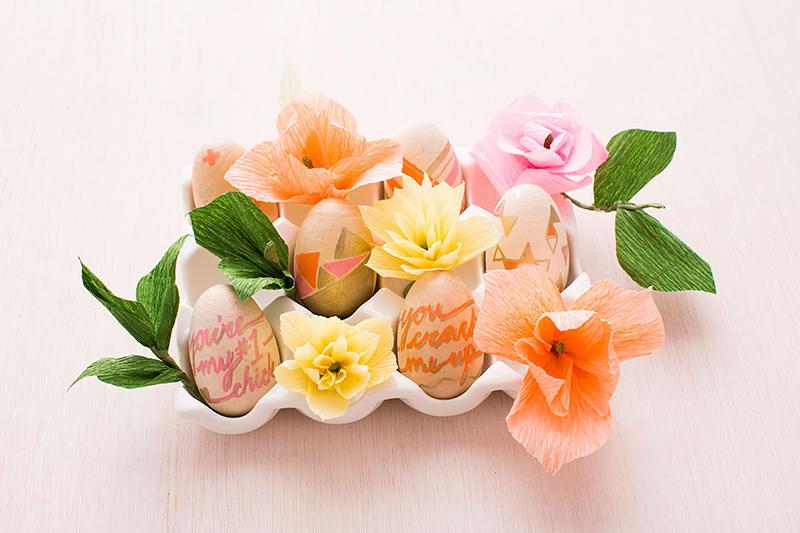 Egg Crepe Paper Flowers