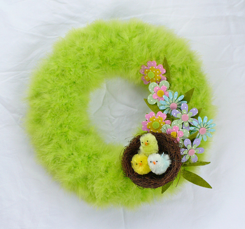 Super Easy DIY Spring Wreath