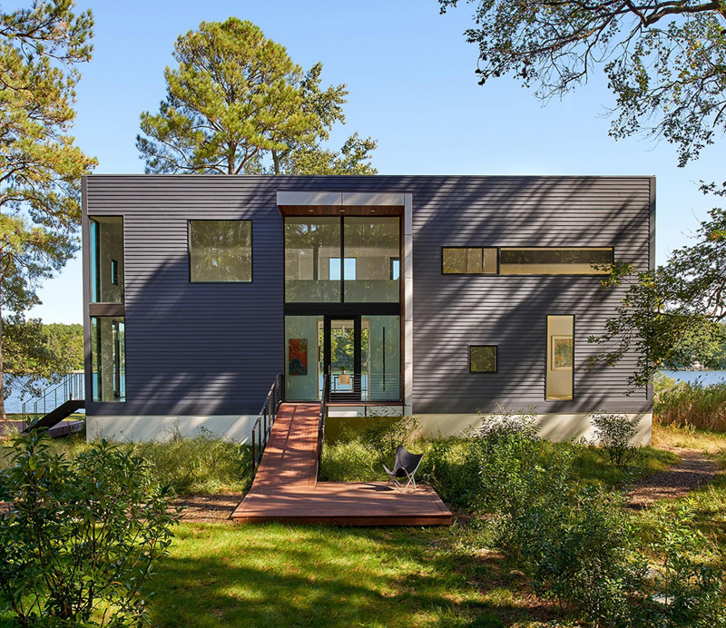 A beautiful modern home in maryland built on an existing - Pavillon residentiel moderne gurney architecte ...