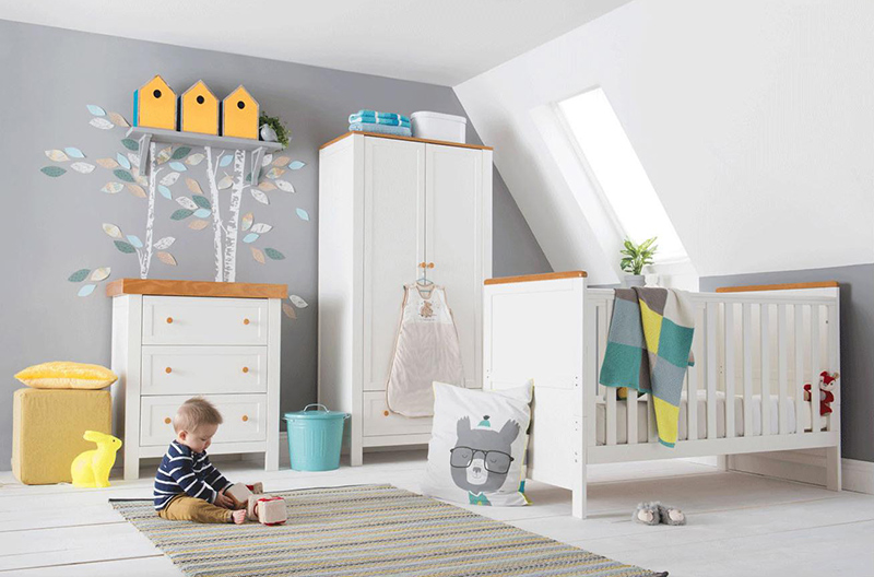 Olivia Nursery Furniture Cot Bed Roomset