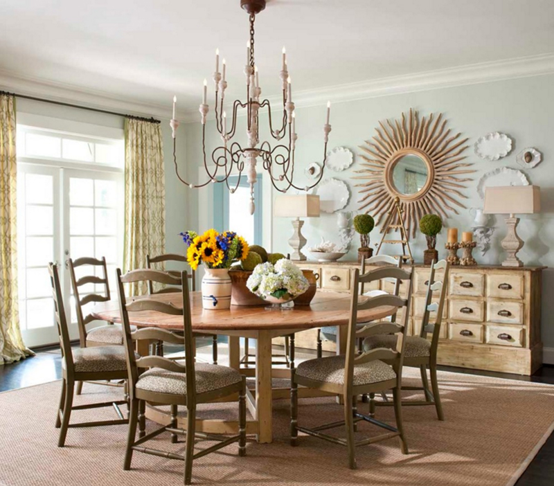 20 Sunburst Mirrors in Beautiful Dining Rooms | Home Design Lover