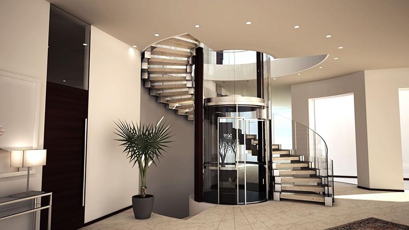 Main Stair Around Elevator