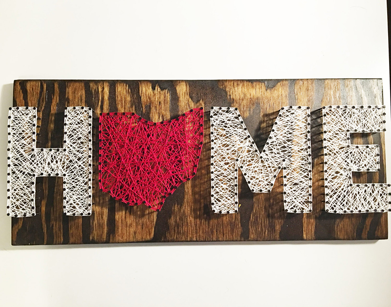 Ohio HOME String Art