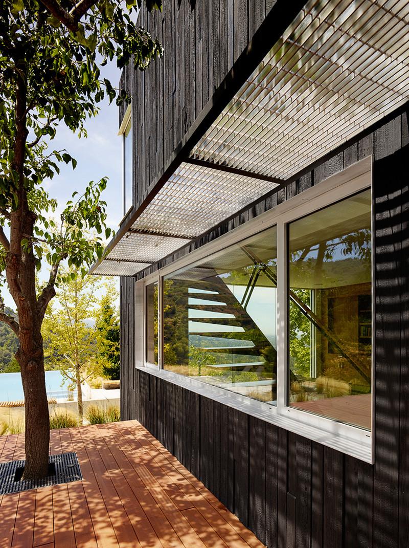 Shou Sugi Ban Siding wooden deck