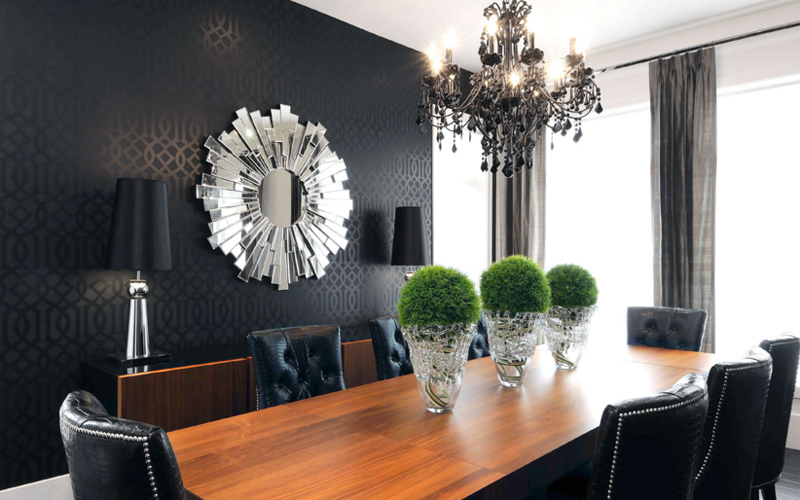 20 Sunburst Mirrors In Beautiful Dining Rooms