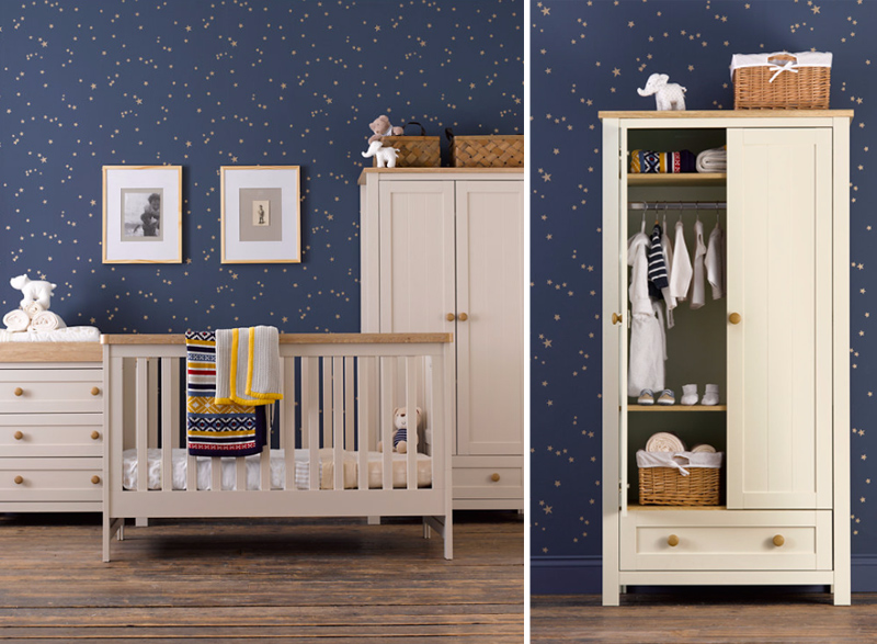 Mothercare Lulworth 3-piece Nursery Furniture Bundle - White Pepper