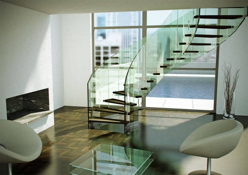 Fly Glass Stair