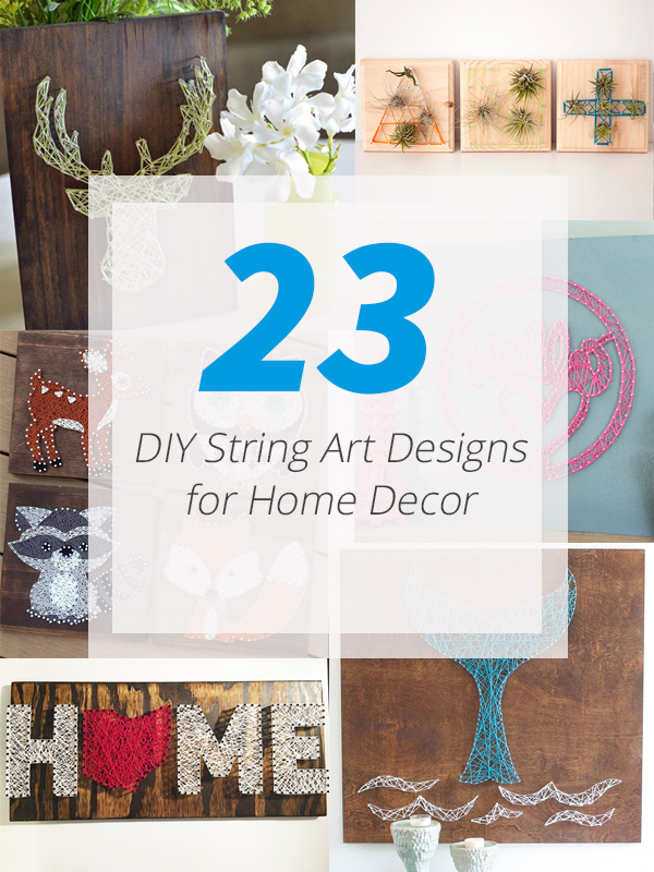 23 Artistic DIY String Art Home Decors