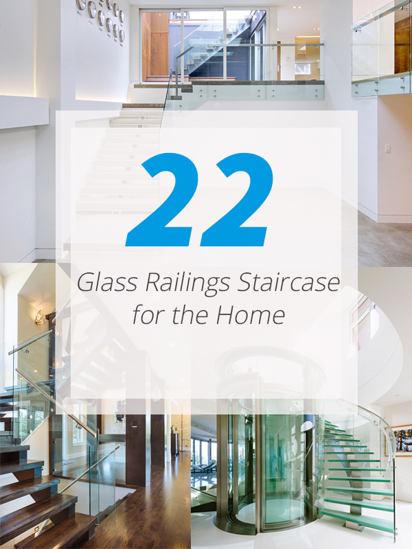 glass stair railings home
