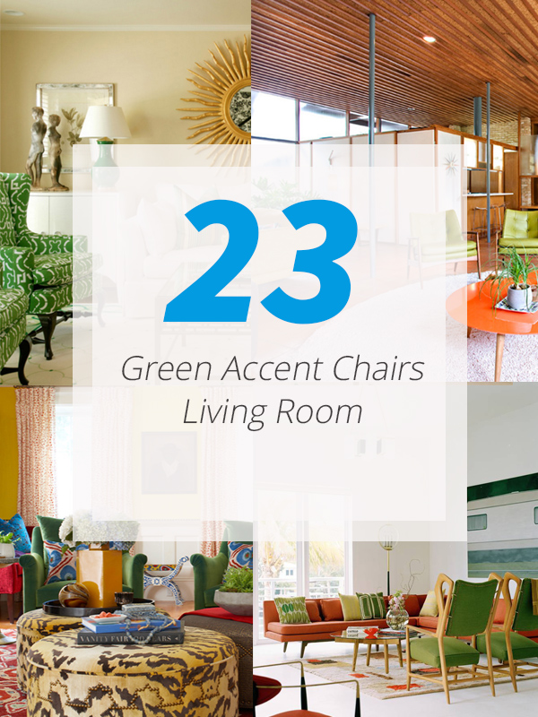 green accent chair livingrooms