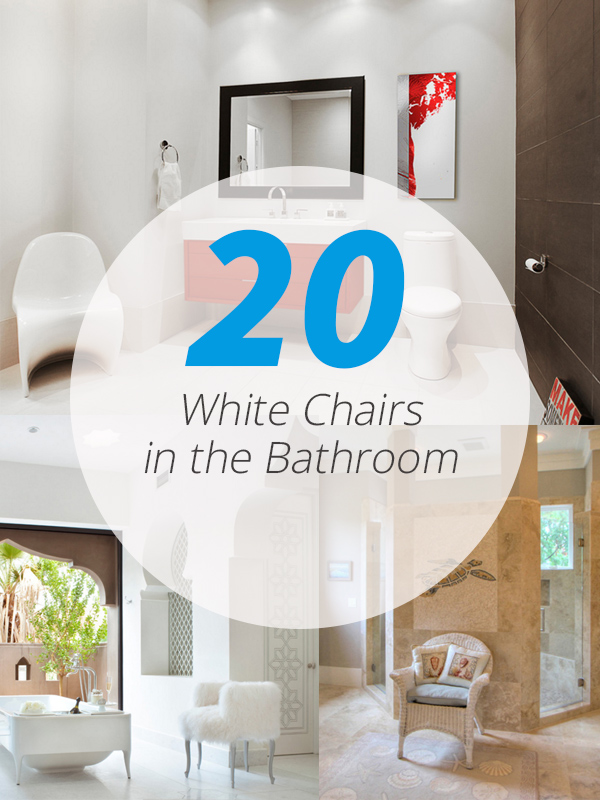 20 Pretty White Chairs in the Bathroom | Home Design Lover