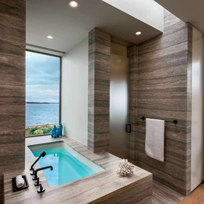 Long Island Home master bathroom