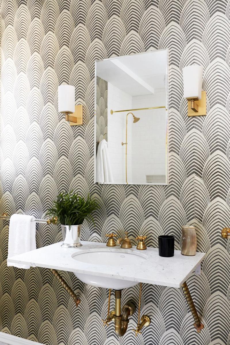 art deco bathroom wallpaper