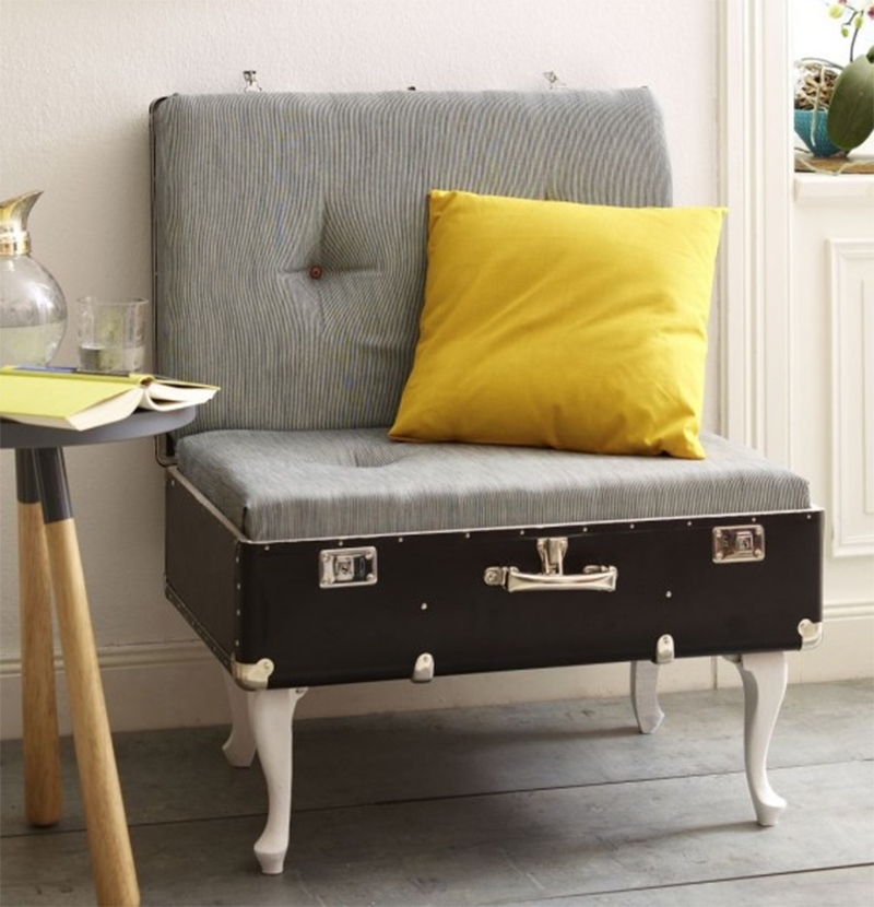 DIY Vintage Luggage Chair
