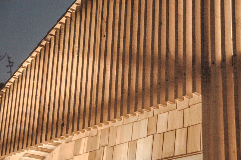 Writer's Shed London exterior cedar wood