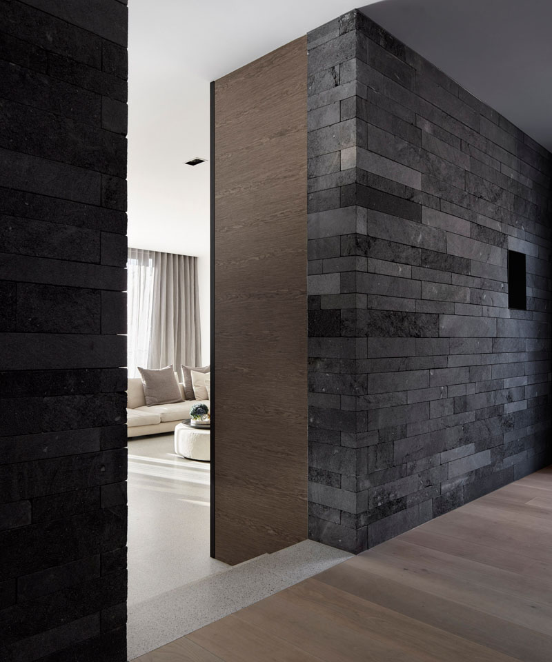 Canterbury Road Residence feature wall