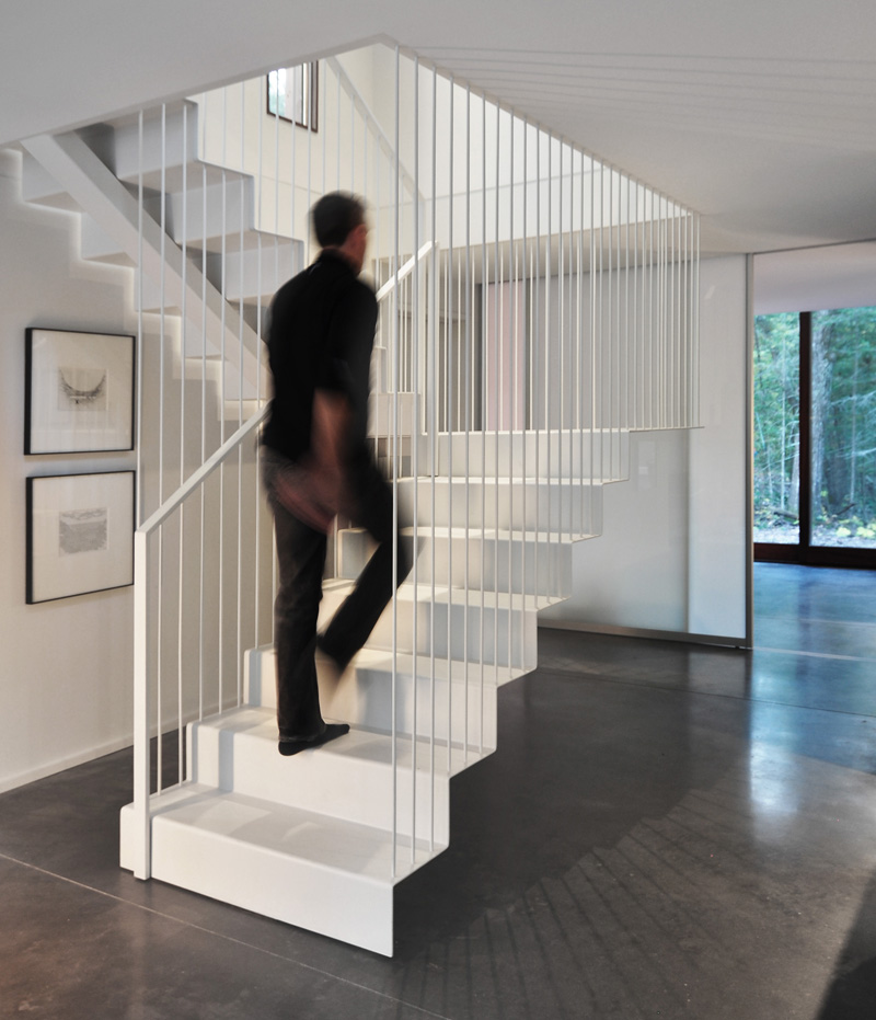 Pleated House stairs