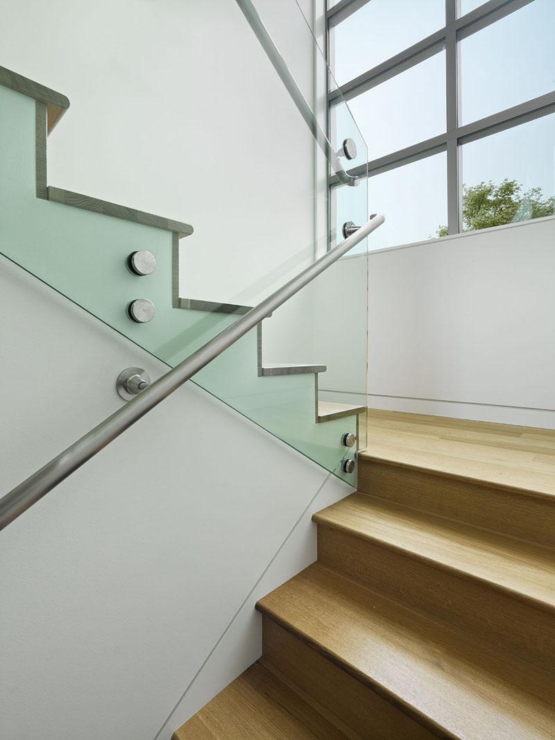 San Francisco Coastal Home stairs