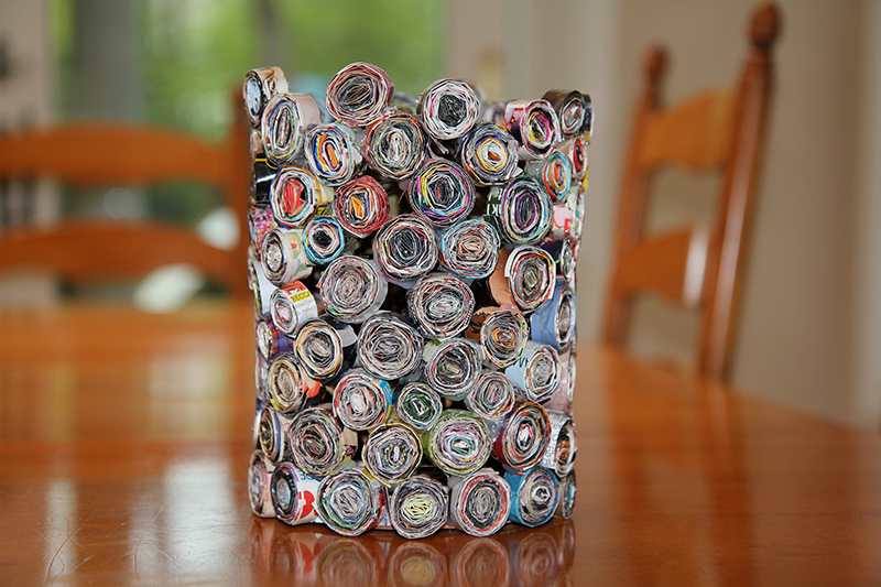 DIY Magazine Vase