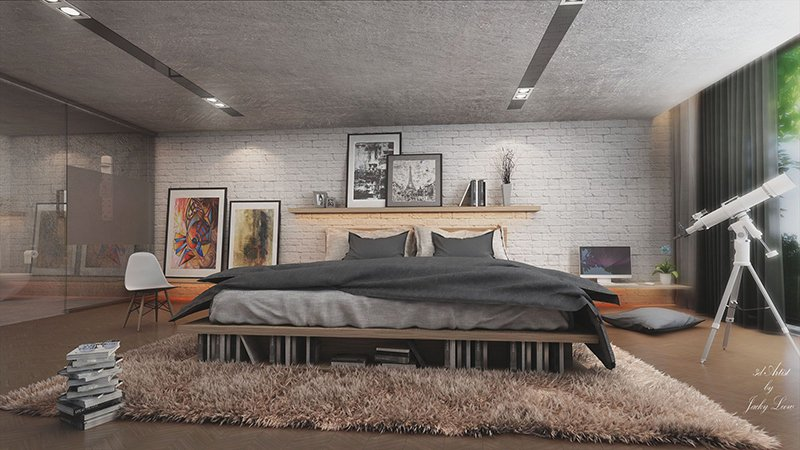 40 Mind Blowing LoftStyle Bedroom Designs Home Design Lover Fascinating Loft Bedroom Design Ideas
