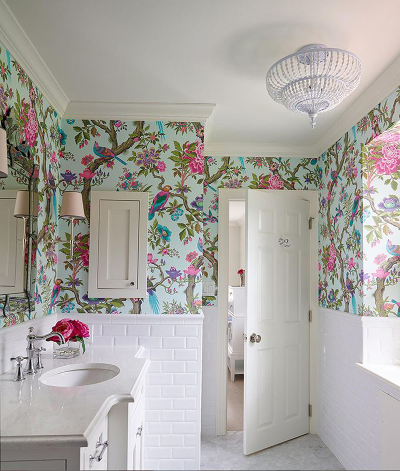 Home Design Ideas Bathroom: 20 Designs Of Stylish Bathroom Wallpapers