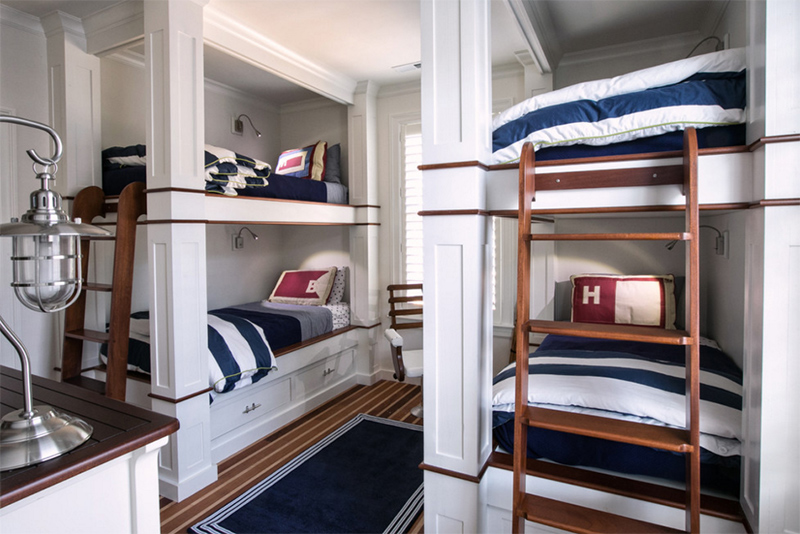 bunk beds for four or more in 23 boy's bedroom  home