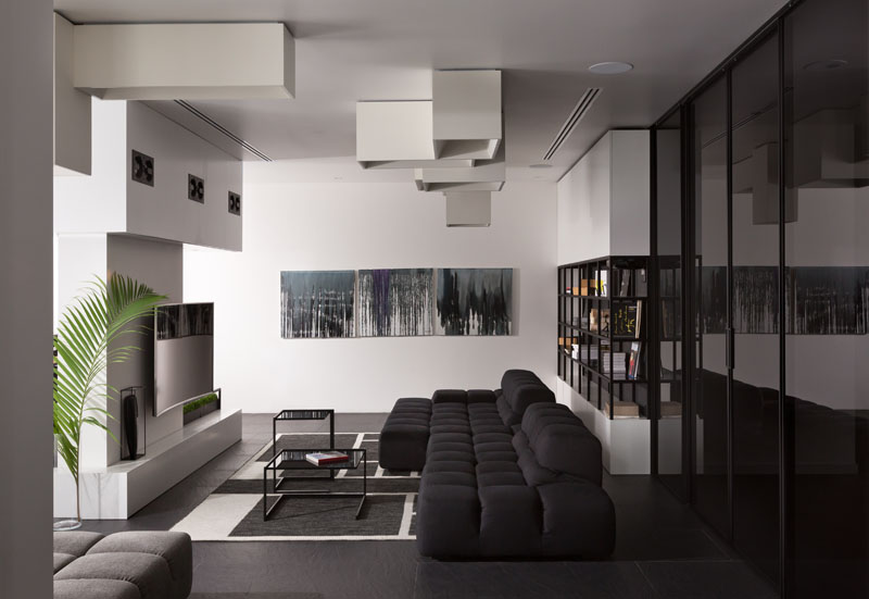 Black and White Apartment living