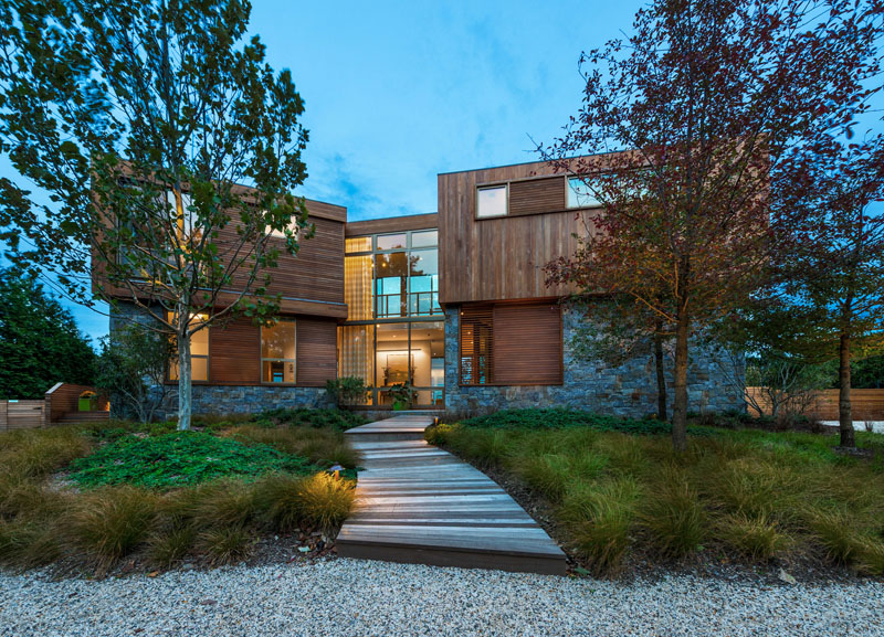 Wood And Stone House a wood and stone house featuring stunning views of the new york
