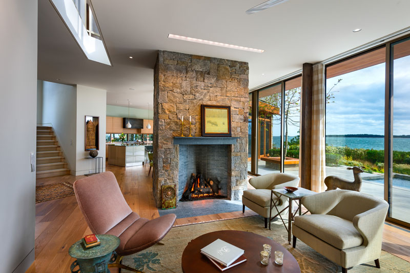 Long Island Home fireplace