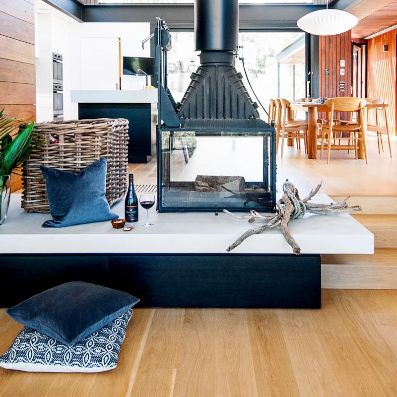 Yarra River House fireplace