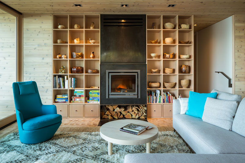 Wooden Lone Madrone Retreat Living Room