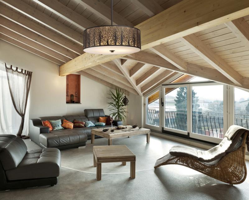 20 Dazzling Living Room Drum Chandeliers   Home Design Lover