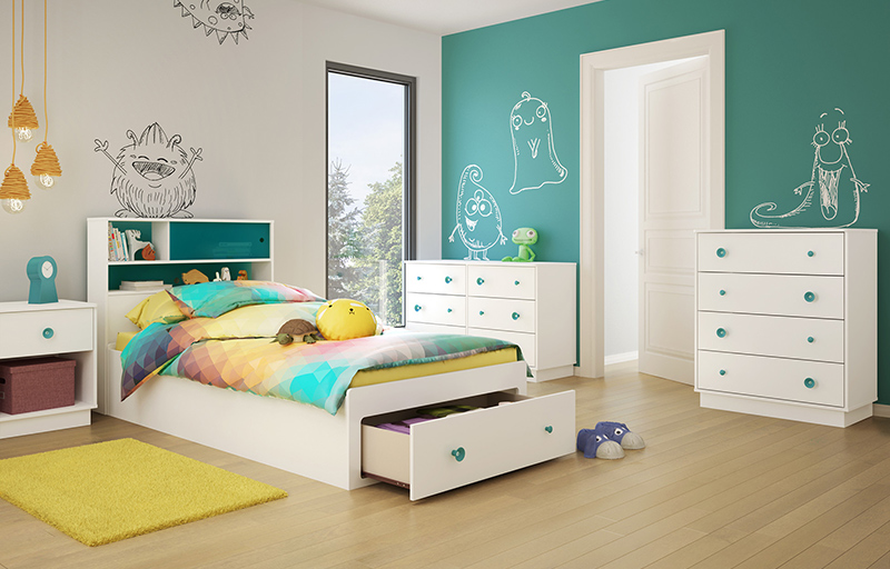 Little Monsters Twin Storage Mateu0027s Customizable Bedroom Set