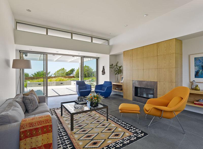 San Francisco Coastal Home living room