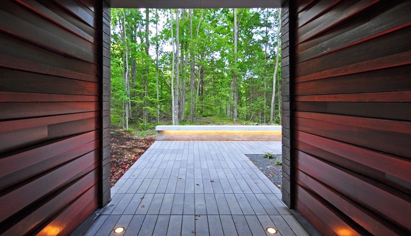 Pleated House entrance