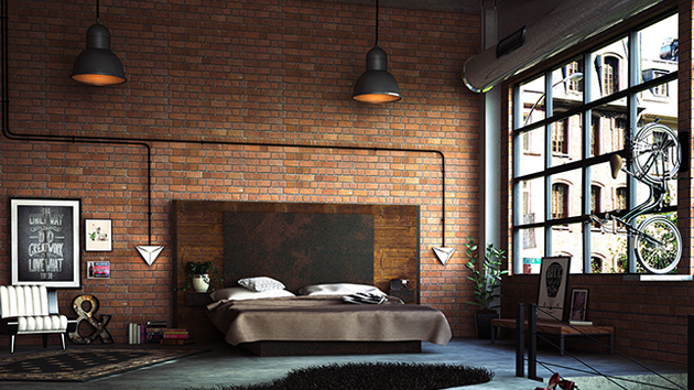 22 mind blowing loft style bedroom designs home design lover. Black Bedroom Furniture Sets. Home Design Ideas