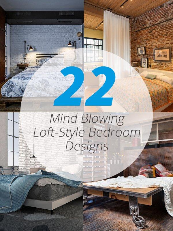 loft style bedrooms