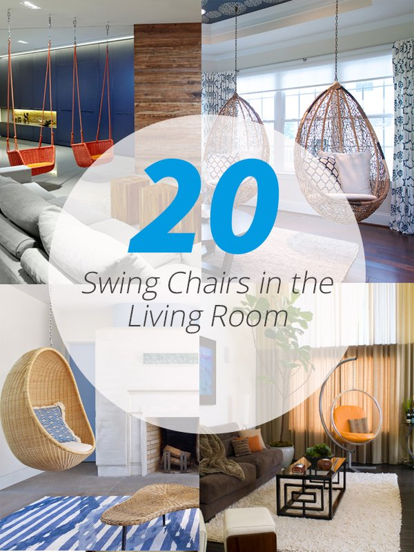 swing chairs living room