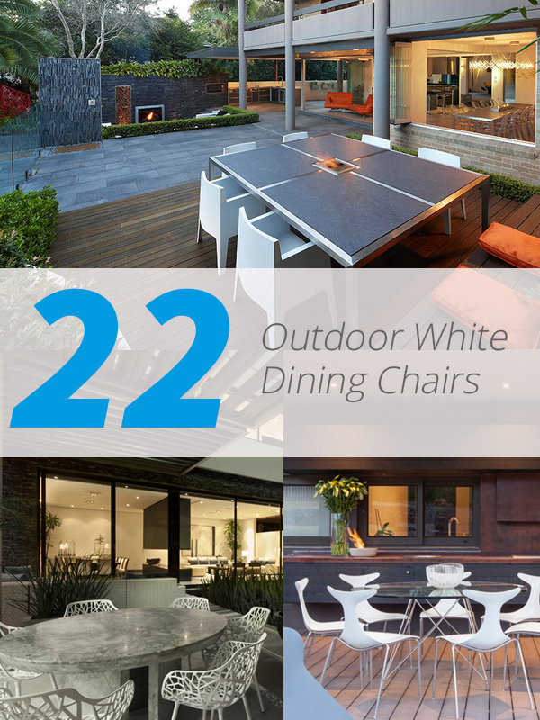 white outdoor dining chair