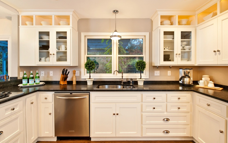U Shaped Kitchens With Black Cabinets