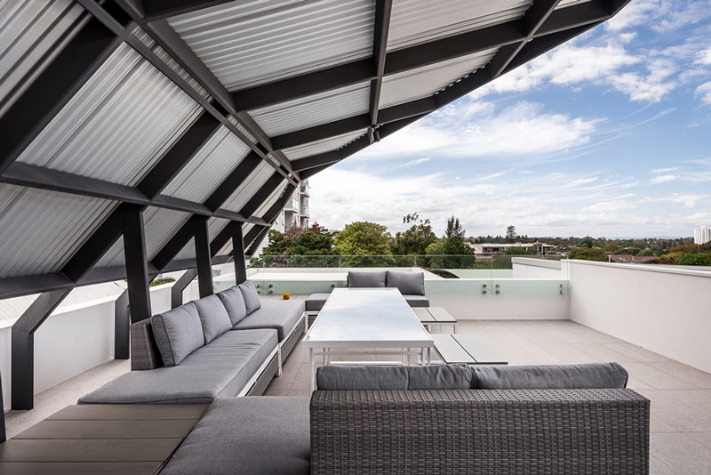 Claremont Residence roof deck