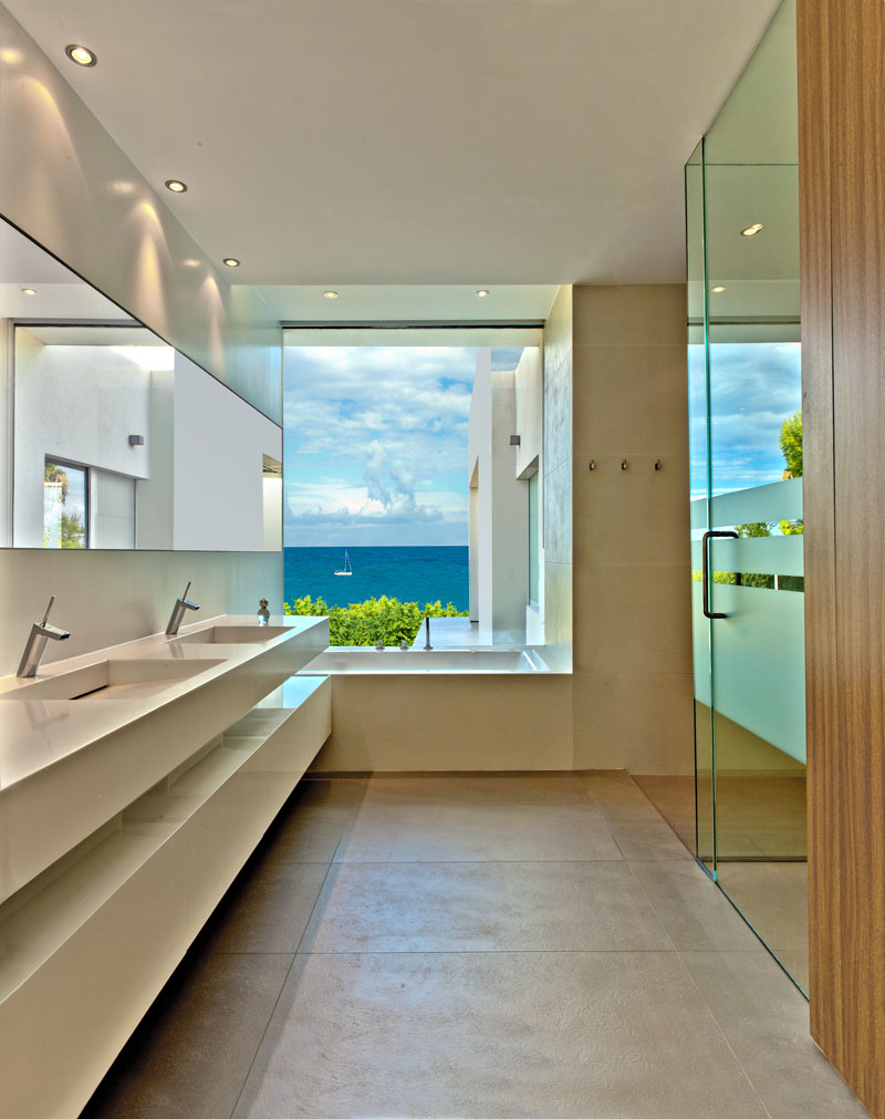 White Modern Home Bath