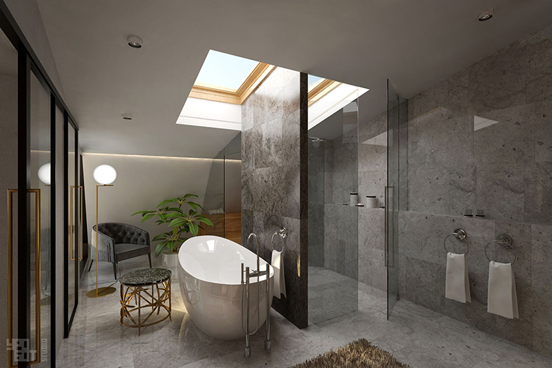 Penthouse Apartment Bathroom Design
