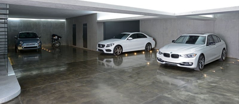 Atrium House garage