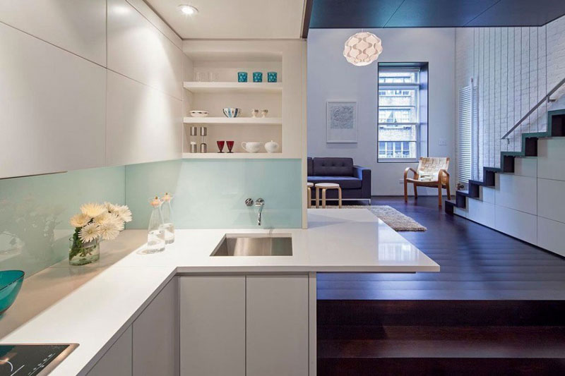 Manhattan Microloft kitchen