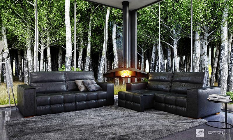 Living room in Forest