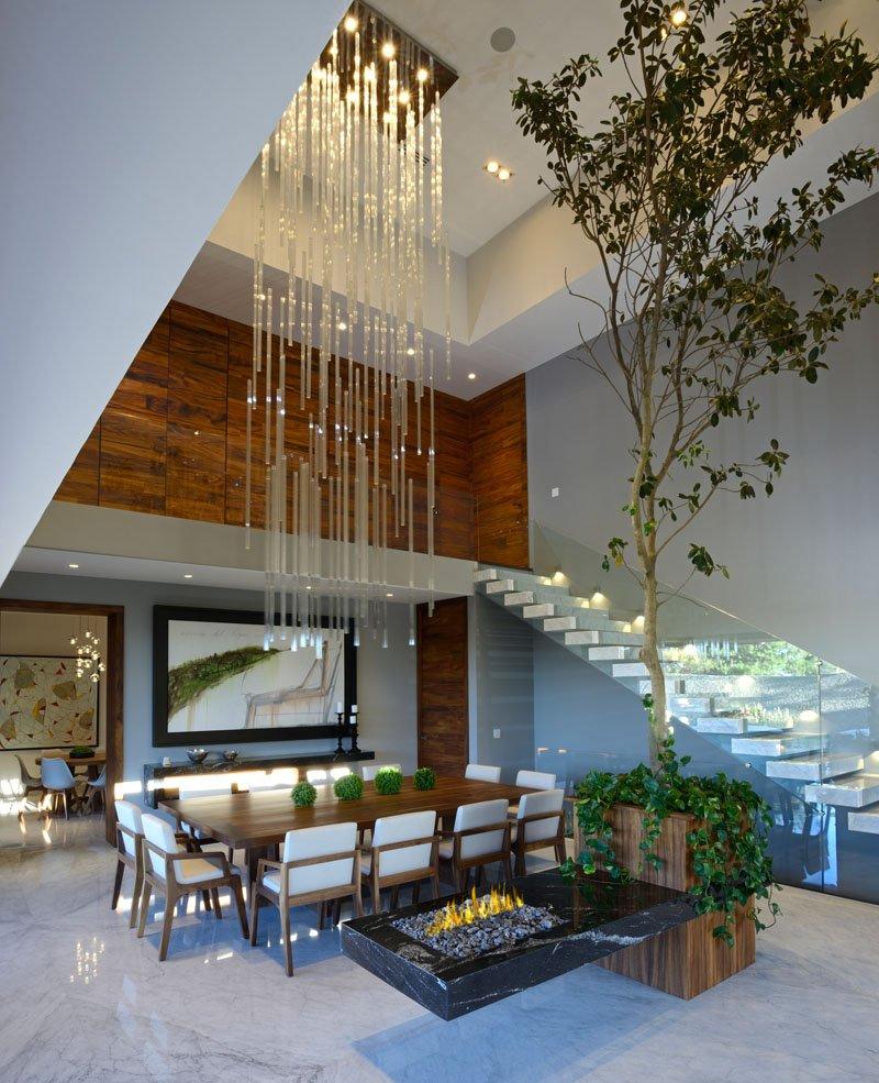 Atrium House interior